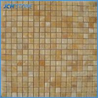 Indoor decor broken pattern golden select mosaic wall tile