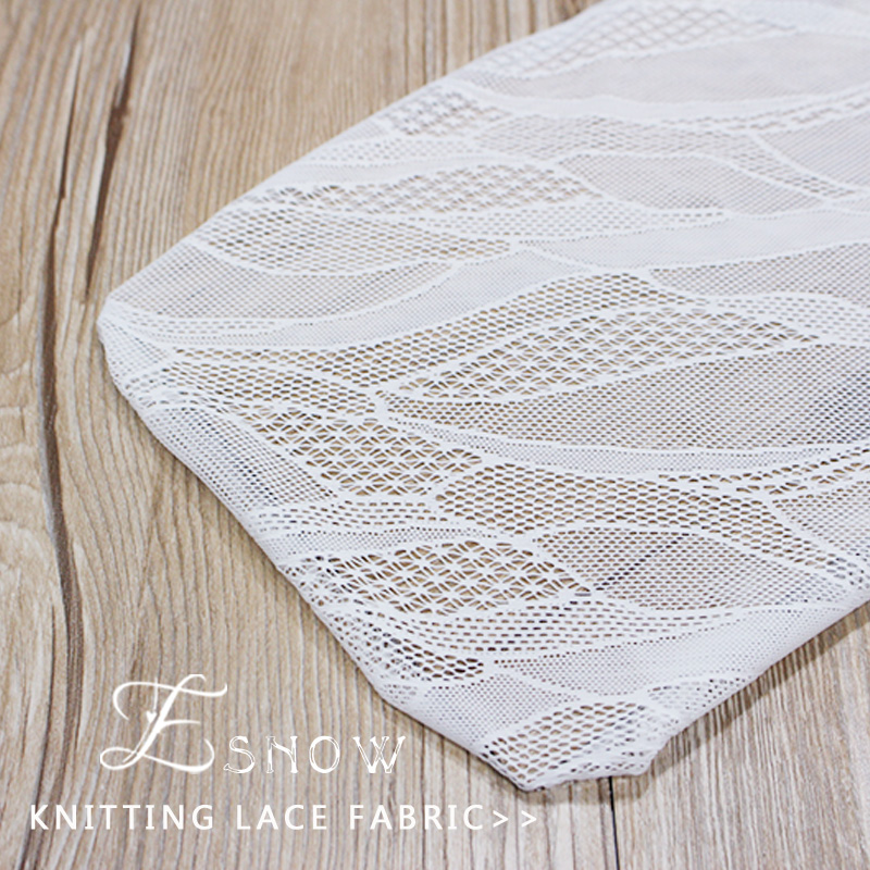 2016 China Wholesaler New Elastic Knitting Lace Fabric for Wedding Dress