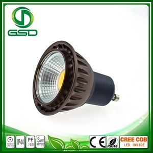 Brown color GU10 cob rechargeable cordless spotlight