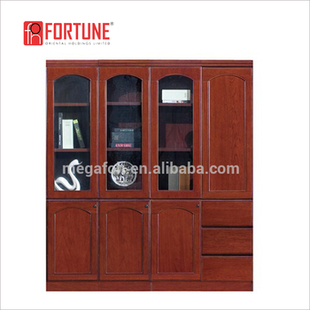 High End Office 3 Drawers Filling Cabinet/ Wooden Storage Cabinets With  Glass Door(foham-1634) - Buy Wood Storage Cabinet With Casters,Small  Cabinet