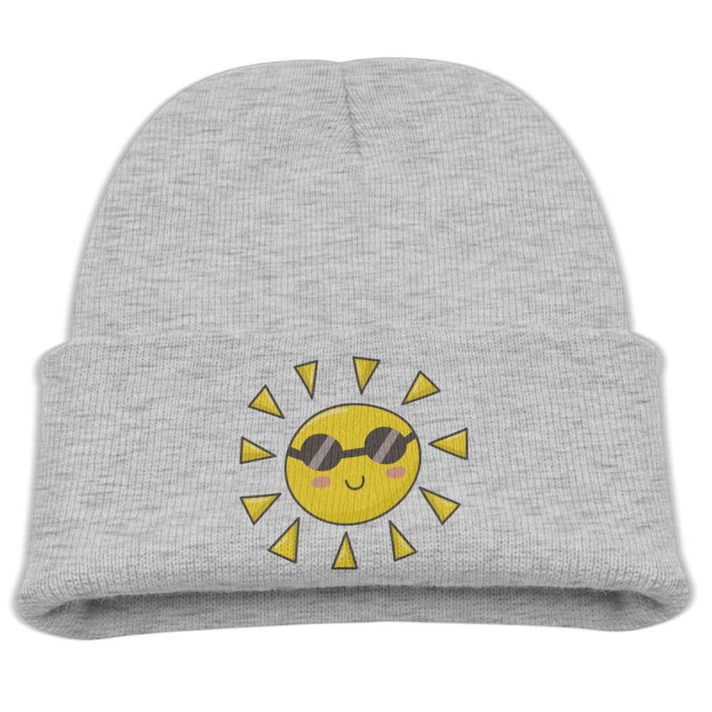 Kids Knit Cap Cute Sun Glasses Cool Winter Hat for Boys/Girls