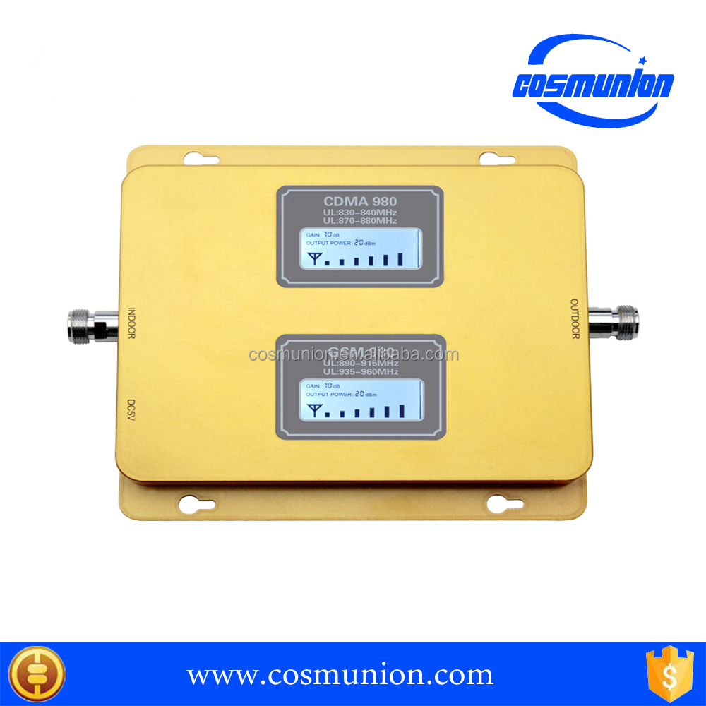 Dual screen dual bands cdma evdo 3g 4g mobile signal booster