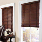 Horizontal basswood slat blind style wooden curtains