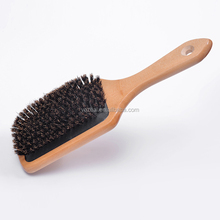 Newest custom natural detangling wooden hair brush with boar bristle