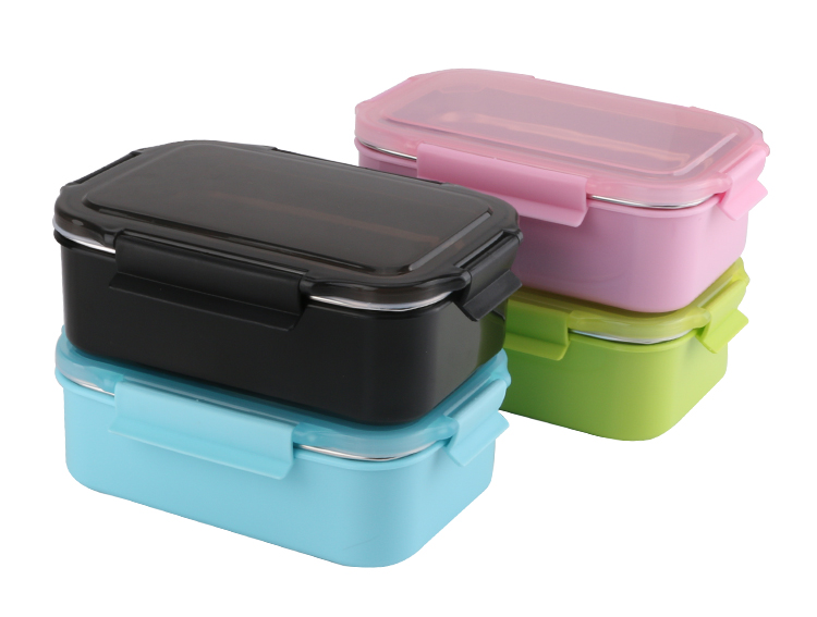 Custom pattern solid color lunch box stainless steel bento box Leakproof insulation lunch box