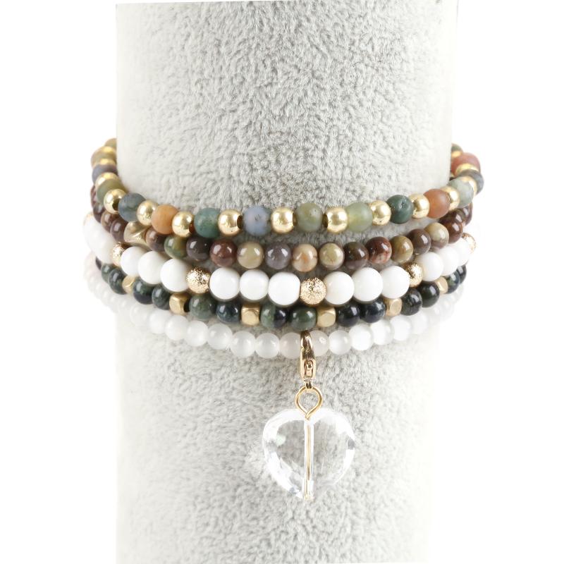 Indien africain agate perles bracelets, petites perles bracelets pour klids