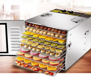 Multi layer food dryer commercial digital adjustable temperature food dehydrator machine