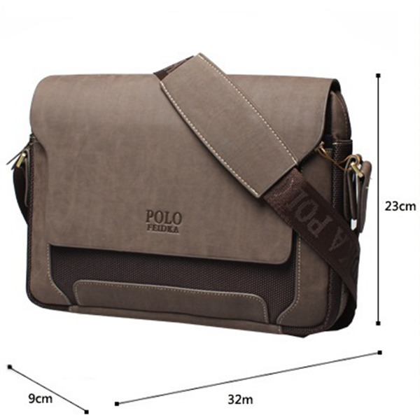 f7671f4aea5e Get Quotations · Brand New Men Messenger Bags Genuine Leather POLO Bags  laptop Briefcase Travel Bags Business Bags