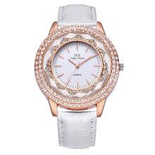 Горячие SAEL новые модные женские кожаные часы с кристаллами и бриллиантами, стразы, женские красивые кварцевые наручные часы, часы Reloj Mujer(Китай)