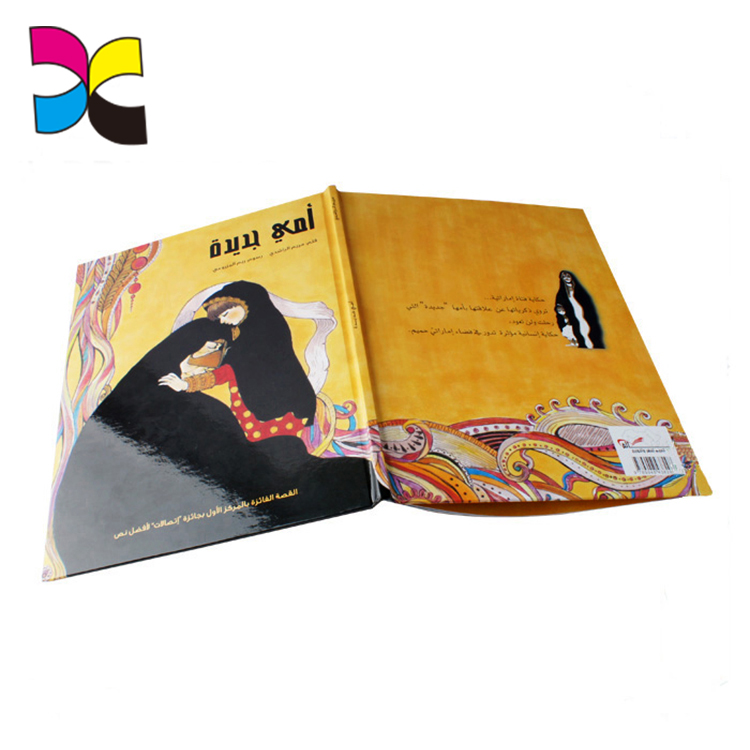 Mass production high quality coloful offset printing custom fancy hardcover book