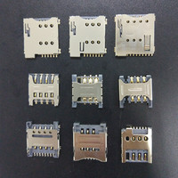 High quality 1.35/1.5/1.8H SMT 6/7/8/9pin push pull flip type high temperature resistant PCBmobile micro sim card connector