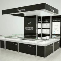 Stocked Exhibition Display trendy led watch display showcase