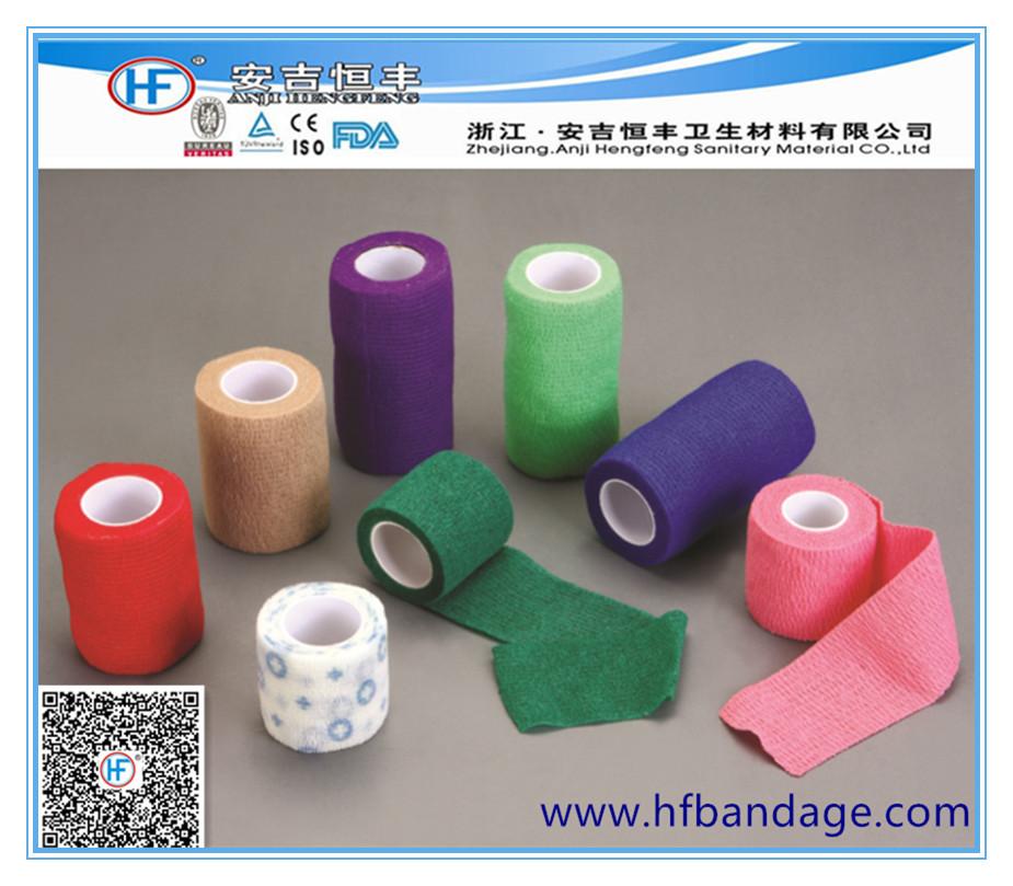 non-woven self-adhesive (cohesive) bandage10x450cm elastic cohesive bandage with CE/FDA