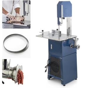 Electric meat band saw machine with stainless steel blade