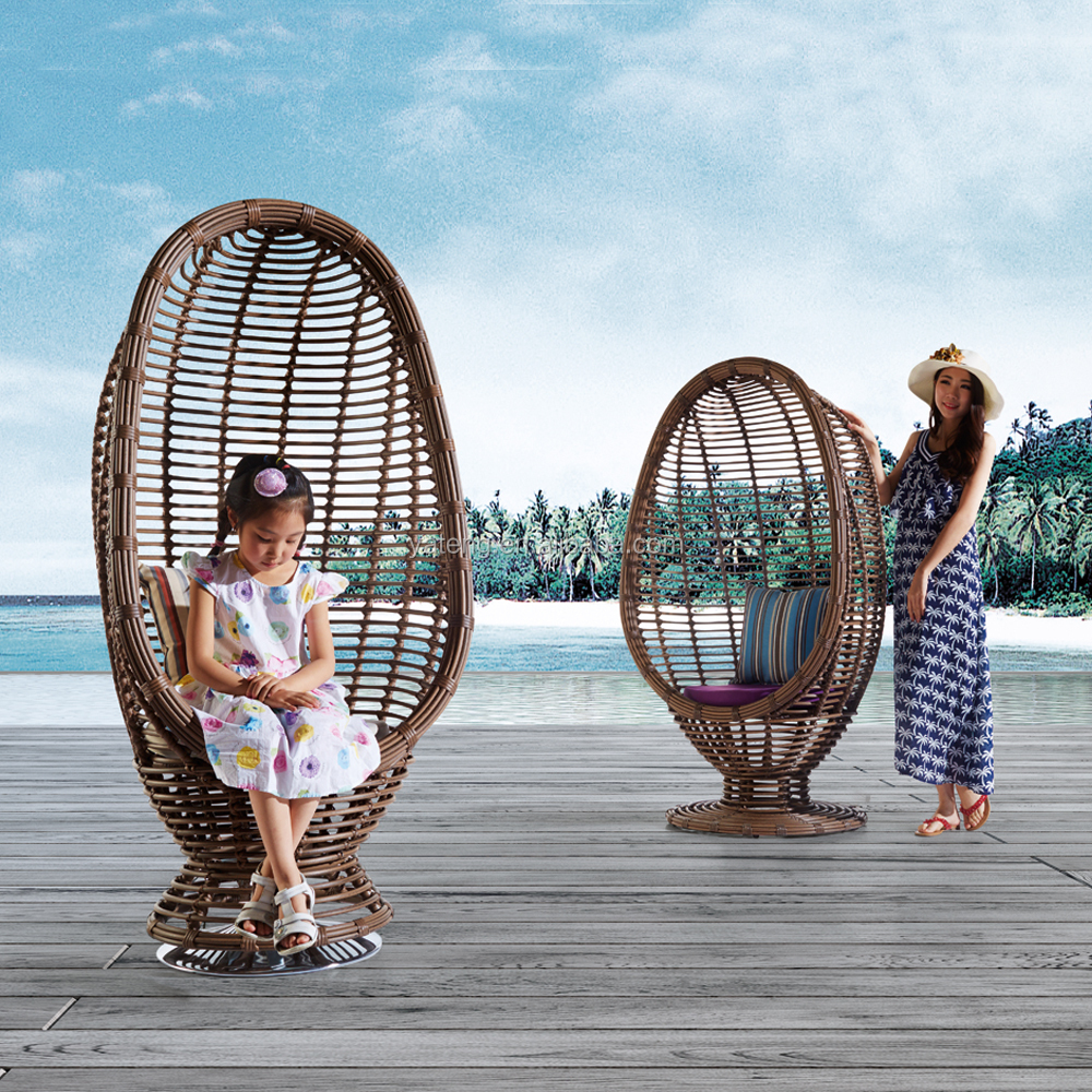 New design egg chair garden rattan swing hanging chair