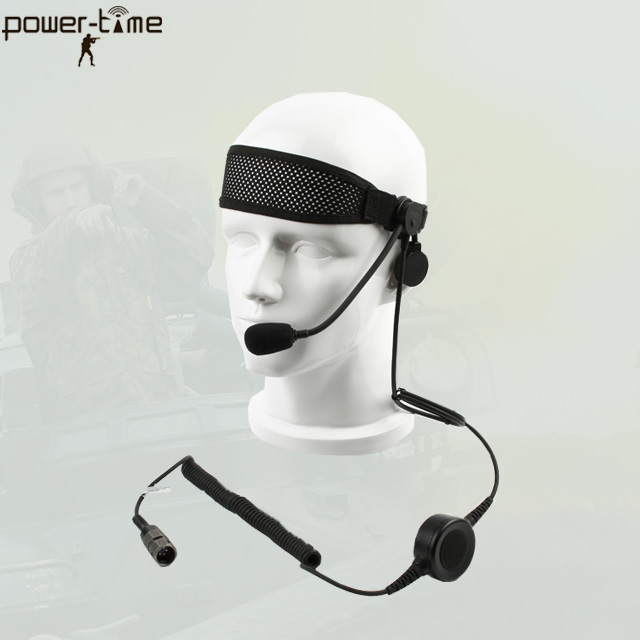 Boom-arm tactical communications headset for special operates/defense