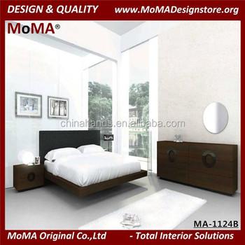 Ma-1124b Muebles Del Dormitorio De La Moda Cuero Negro Cabecero ...