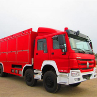 6x4 HOWO fire truck with containerized firefighting equipment