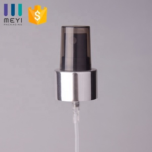 24/410 Hot sale shiny silver fine mist spray pump with dustcap