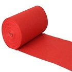 Factory direct sell design 100% polyester plain floor red carpet