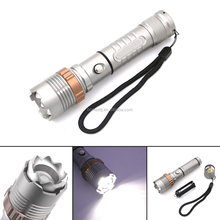 Waterproof 2000 lumens zoomable c*ree xm-l t6 rechargeable light led flashlight torch