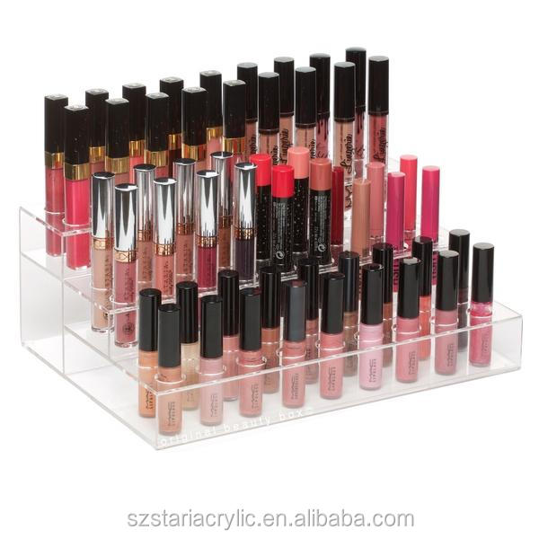 Clear Acrylic 54 Slot Round Lipstick Holder