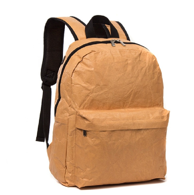 Promotional Brown Light School Custom Waterproof Backpack Style Tyvek Paper School Bag