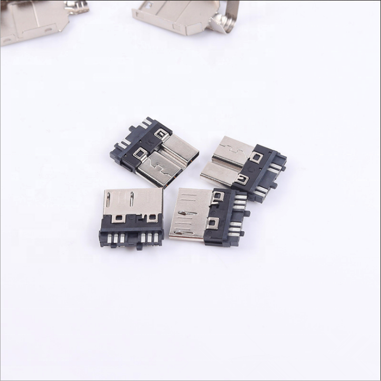 USB Connectors Factory Supply USB 3.0 Micro B Male <strong>Solder</strong> Connector for Table Phone Digital Product USB Cable