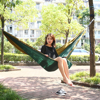 300*200cm Parachute Nylon Fabric Custom Printed 2 3 4 Person Backpacking Camping Hammock