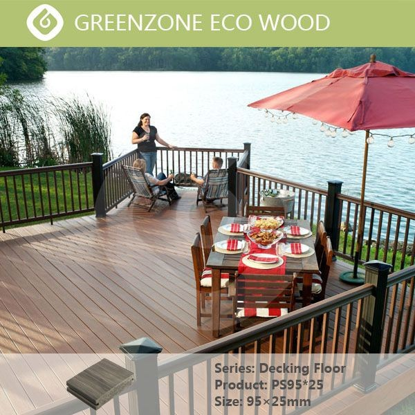 Engineered composite deck board outdoor wood plastic timber flooring