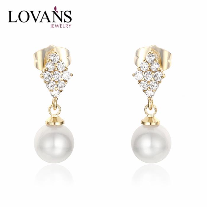 925 Sterling Silver Gold Ear Tops Designs 14k Gold Earrings - Buy ...