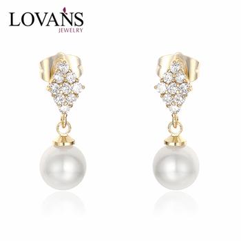 925 Sterling Silver Gold Ear Tops Designs 14k Earrings