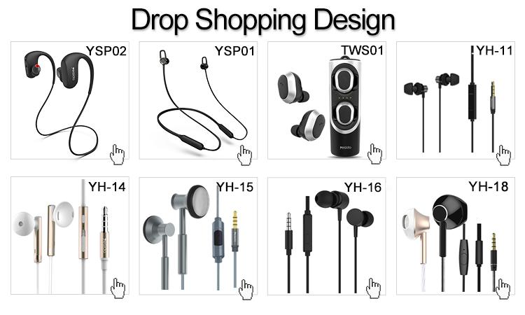 Gota de Compras Esporte 3.5 Milímetros Wired Handsfree Fone De Ouvido In Ear Fone de Ouvido Estéreo Com Microfone