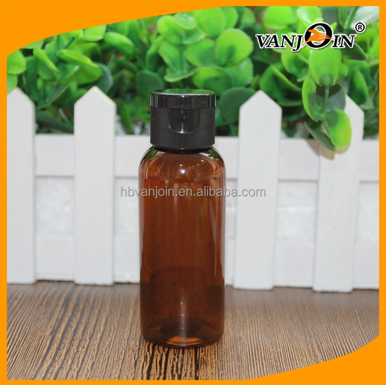 50ml Small Cosmetic Package Plastic Empty Hotel Shampoo Bottle