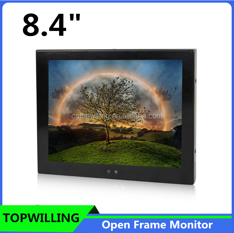 4 Wire Resistive 8 inch Touch Screen Kiosk LCD Monitor in Metal Casing