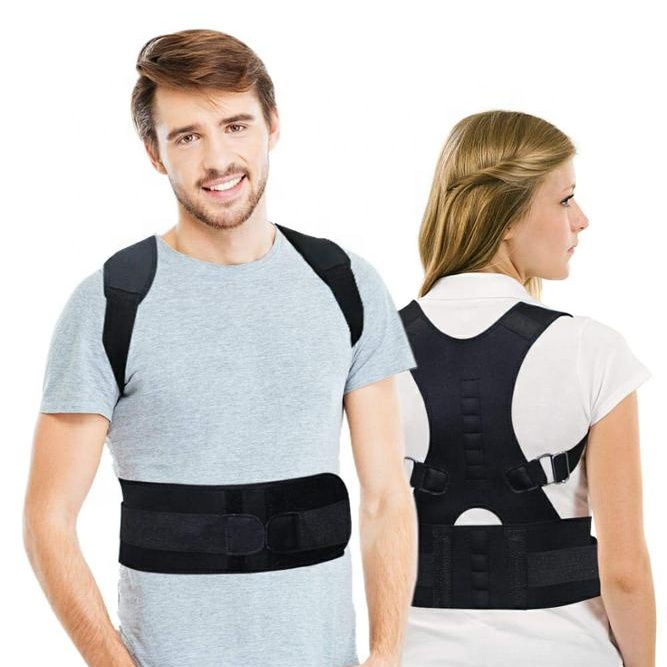 Real Doctor Neoprene Posture Corrector Lower a Upper Back Support Brace With Fully Adjustable Back Support Posture Brace, Can be customized