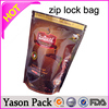 Yason pe mini zip bag three seal bag with zipper & window clear front back foil mylar ziplock bag for food