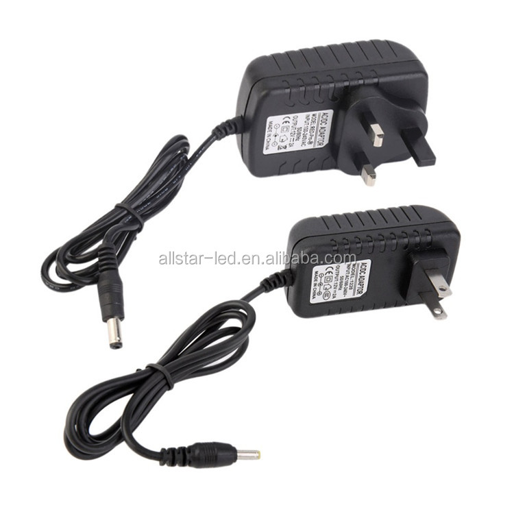AC/DC Adapters US Plug/UK Plug DC AC Adapter Power Supply 12V 2A Transformer for 5050 5630 3528 LED Strip In Stock