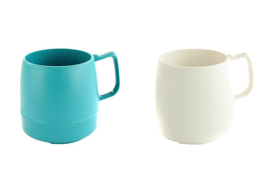 DINEX (Dynex) mug 8oz. MUG Set TEAL x OFF WHITE DNX1T017