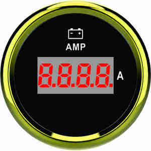 52mm boat instrument waterproof Digital Amperemeter/amp meter gauge