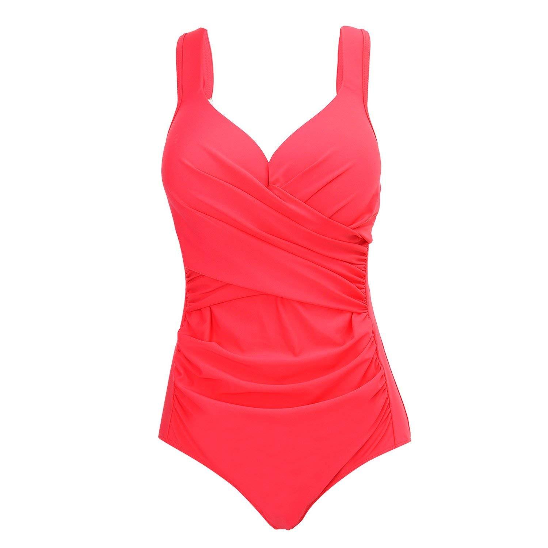 f5c34c8d9a8d7 Get Quotations · Robert Reyna Swimwear fold Cross Cover Belly Fat Lady  Ladies Swimwear