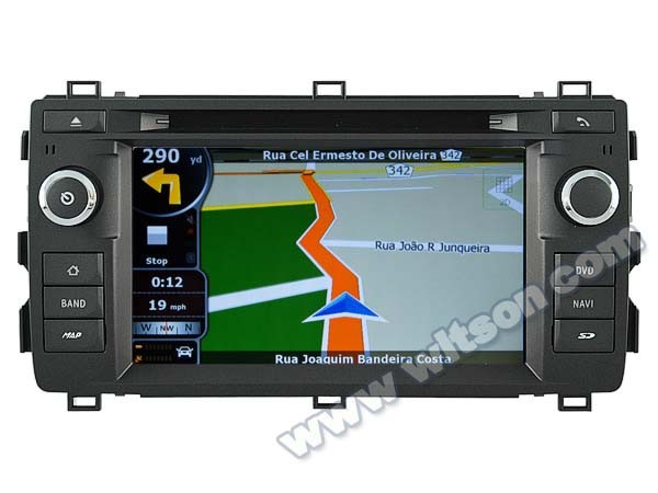 WITSON DOUBLE DIN <strong>CAR</strong> DVD GPS FOR <strong>TOYOTA</strong> AURIS 2013 WITH CAPACTIVE SCREEN BLUETOOTH RDS 3G WIFI