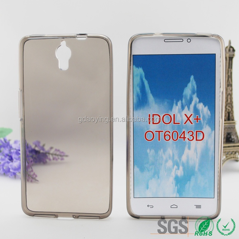 Crystal Clear TPU Gel Silicone Case Cover for Alcatel Idol X+ OT6043D