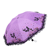 New Cute Women Butterfly Printed 3 Fold 8K Lace Fringe Umbrella