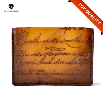 debd05237f70a2 Handmade Engraved Leather Business Card Holder/Custom Luxury Business Card  Wallet