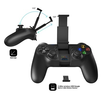 New development bluetooth game controller for android/iphone/tv