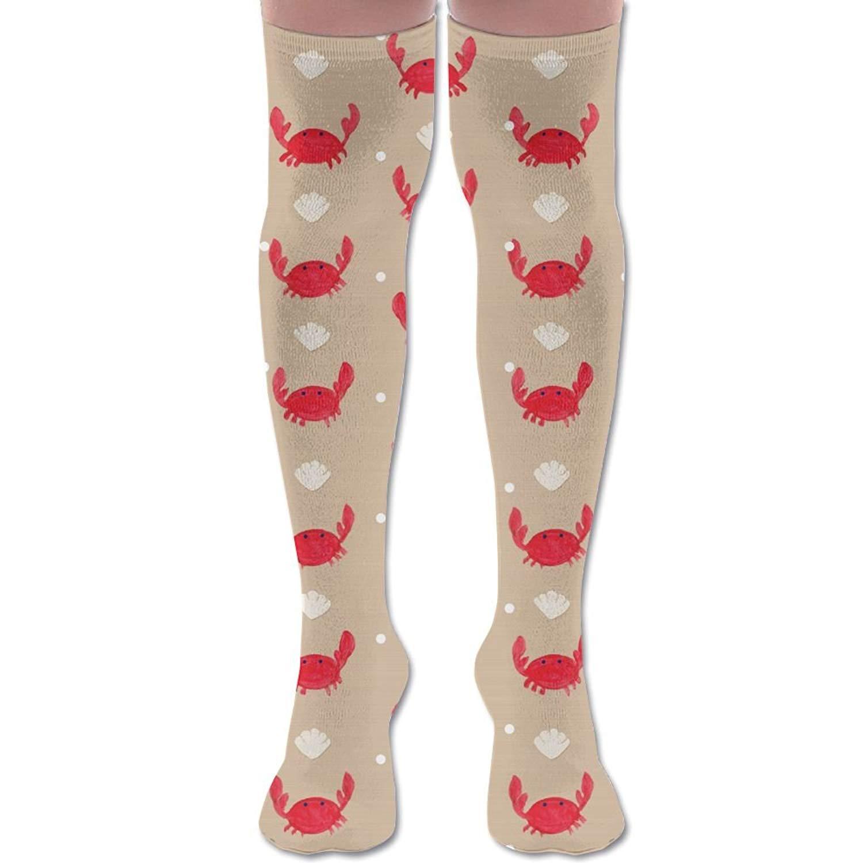 8723a758680 Get Quotations · XYMNZGS Funny Lobster Crab Womens Socks Knee High Tube  Socks For Running Mens Socks