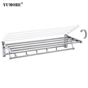 Durable modern small bathrooms space saving portable folding bronze brass stainless steel towel racks