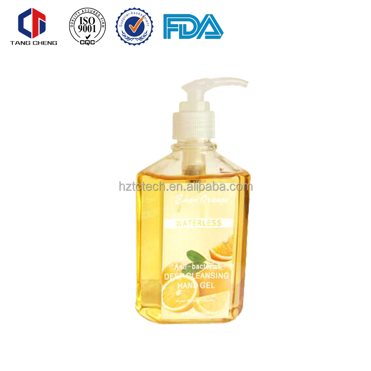 wholesale waterless liquid soap/ 8oz hand gel sanitizer
