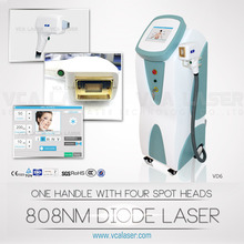 Germany Bars!808 double semi conductor cooling diode laser permanent hair removal